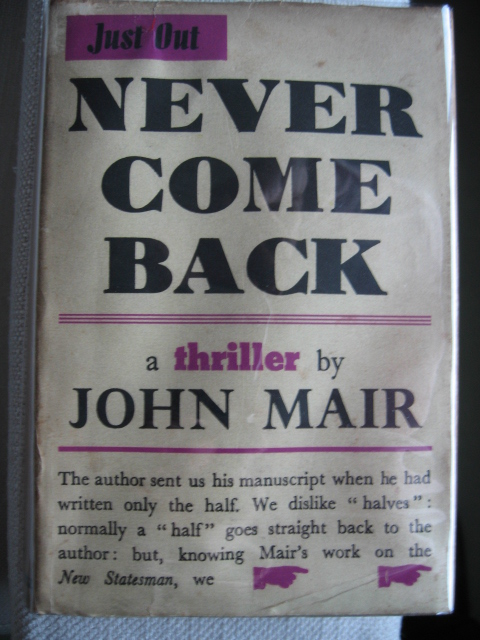 JohnMairNeverComeBack1stEdn