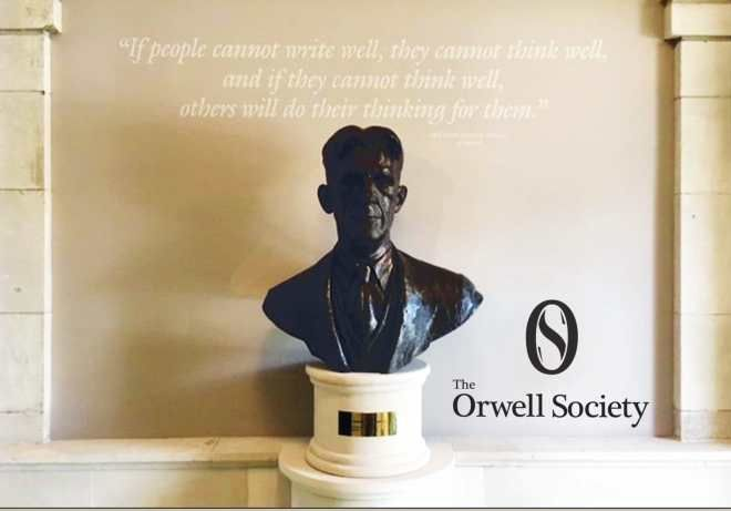 Orwell Bust with OS logo